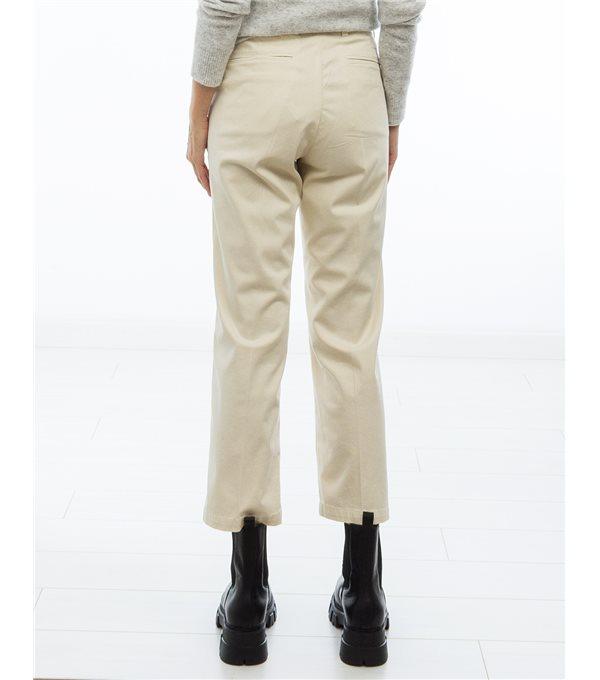 Fine gabardine pants - ecru