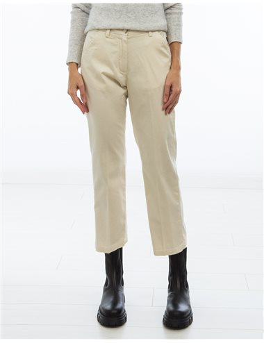 Pantalón gabardina fina - crudo