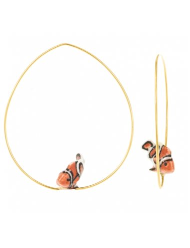 Clownfish hoop earrings