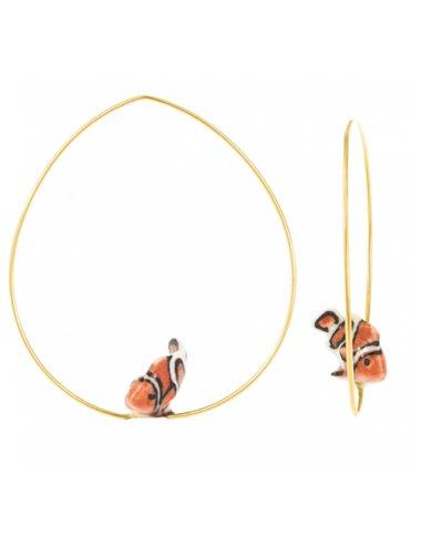Clownfish hoop earrings