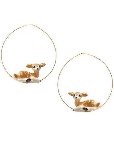 Deer hoop earrings