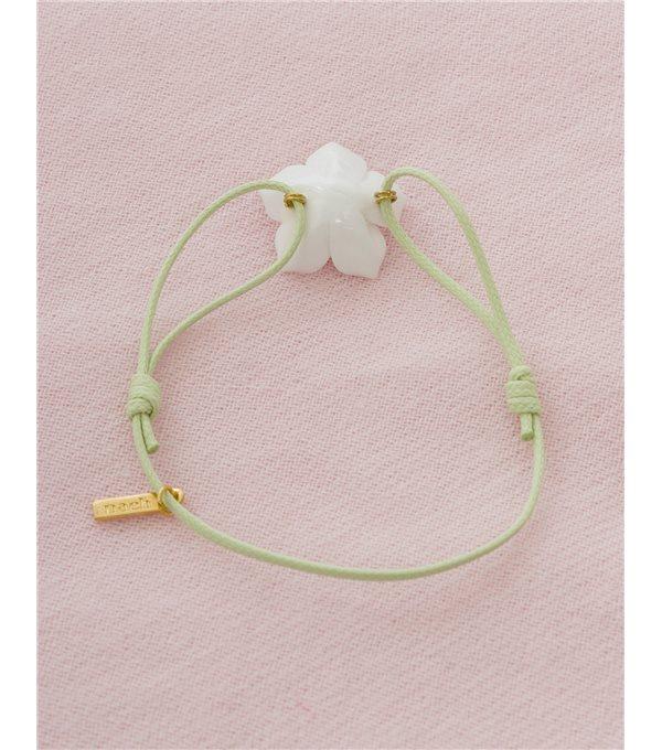 Pulsera cuerda flor