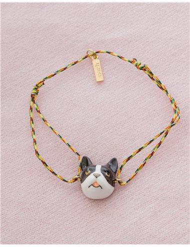 Pulsera cuerda multicolor Bulldog