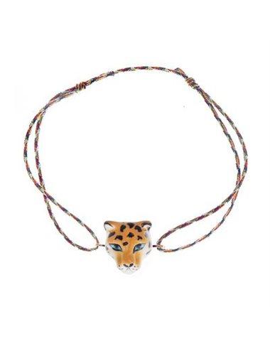Pulsera cuerda multicolor leopardo