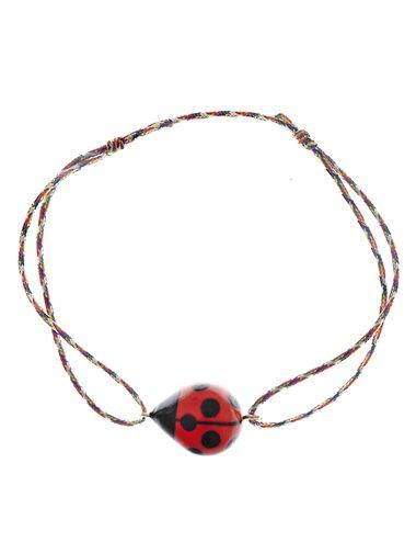Ladybug rope bracelet