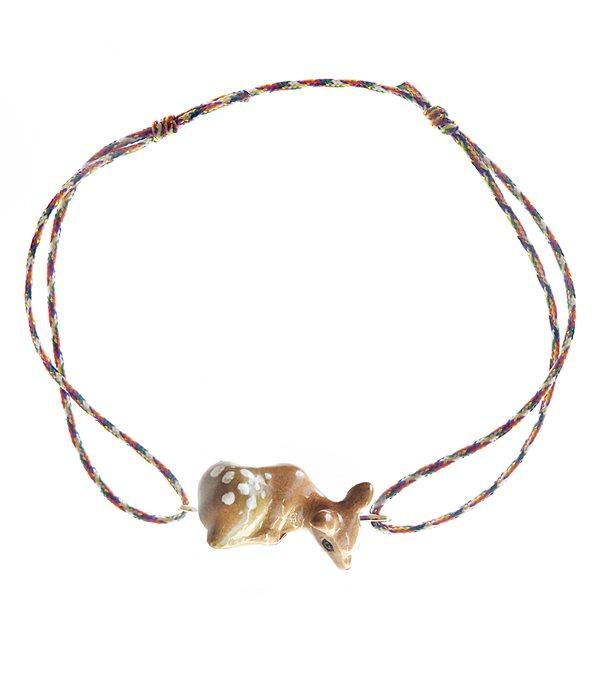 Pulsera cuerda multicolor ciervo
