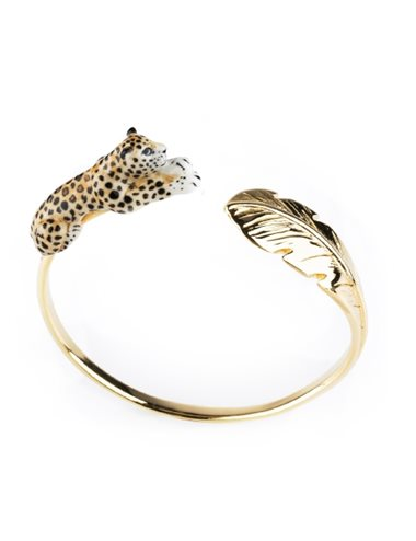 Pulsera hoja y leopardo