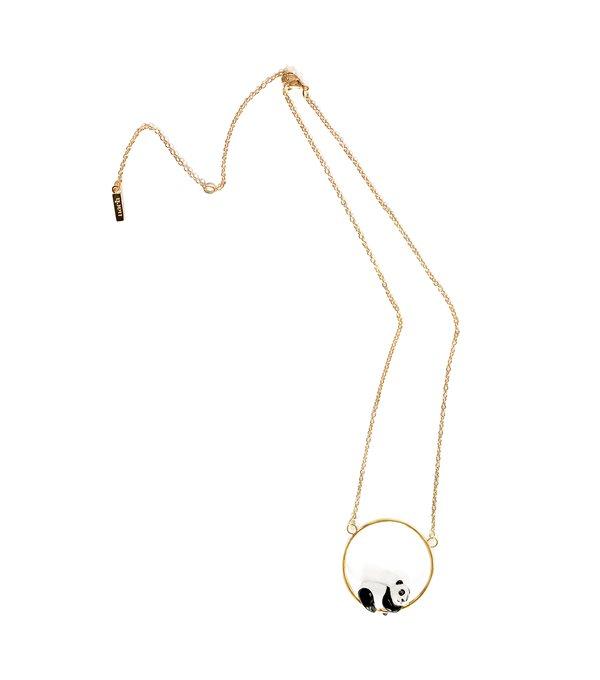 Collar largo panda