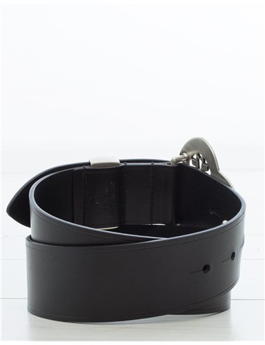 c/ ADARIA - Cinturón pieza trébol - negr