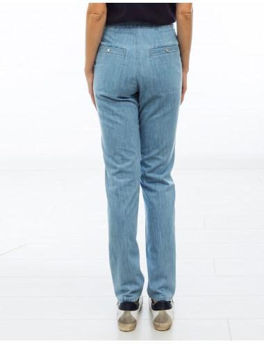 c/ MUARDO - Pantalón denim fino - azul c