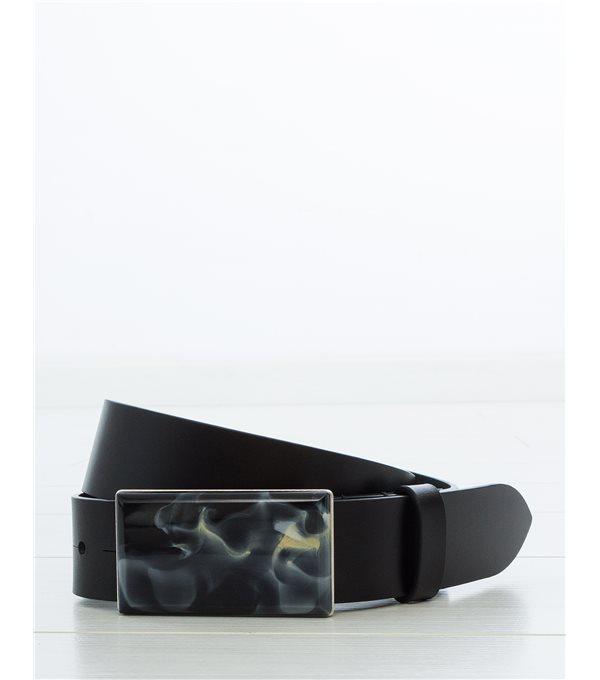 c/ LUPONI - Cinturón pieza onyx - negro