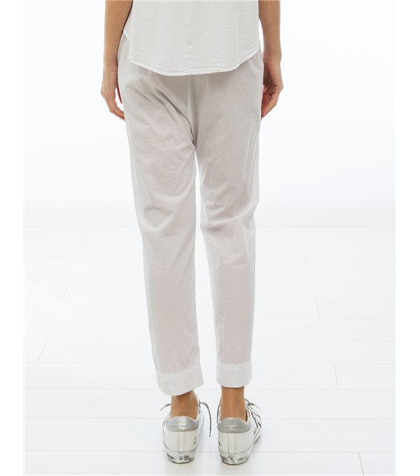 Pantalón popelín fino - blanco