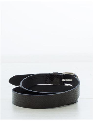 ZAP - Cinturón grabado - negro