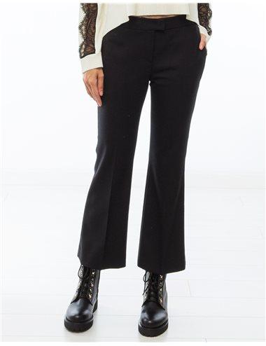Pantalón lana crop-negro