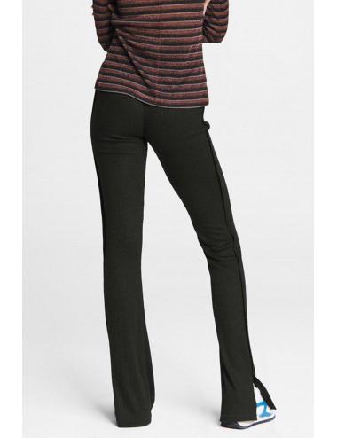 Pantalón canalé - negro