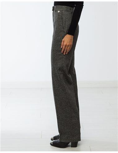 Pantalón cheviot-gris
