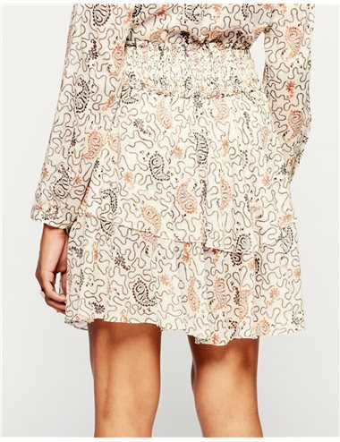 ALSO - Printed skirt - blue