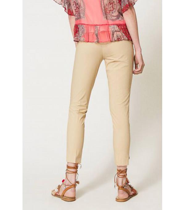 C/ Pantalón popelín goma - camel