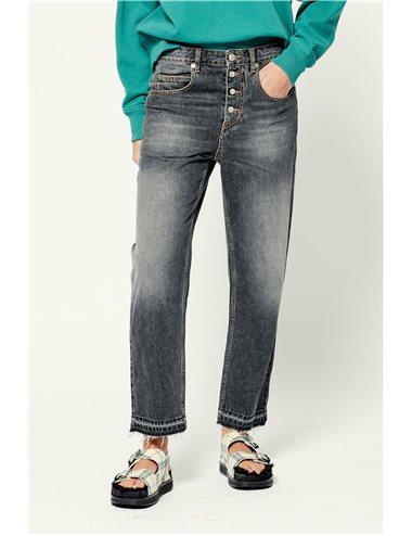 BELDEN-Pantalón tejano botones