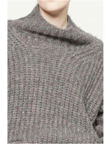 IRIS-Jersey cuello alto-antracita