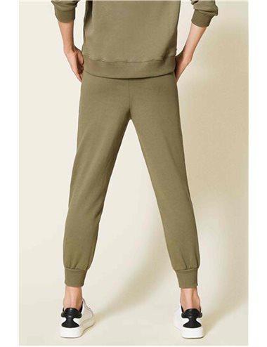Pantalón largo chandal-verde