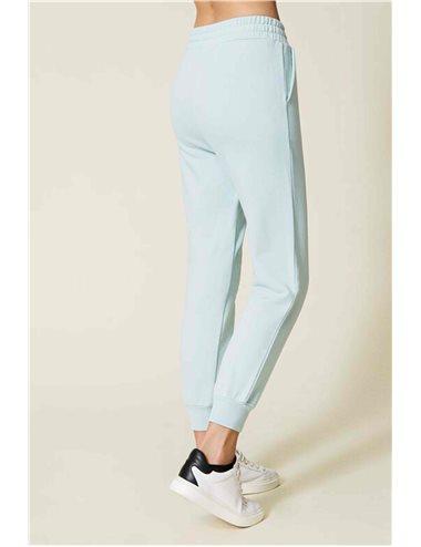 Pantalón largo chandal-turquesa