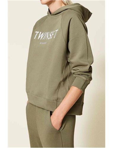 Felpa chandal capucha-verde