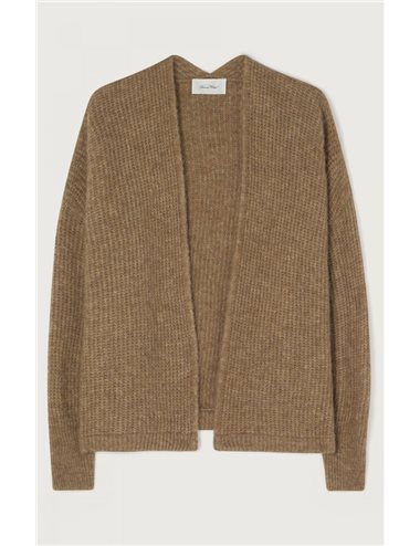 Knitted short jacket - taupe
