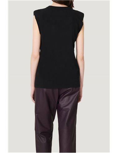 T-shirt sm IRO hombreras- negro