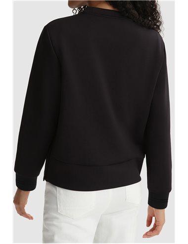 Thin neoprene sweatshirt - negro