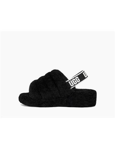 Sandalias Fluff yeah logo - negro