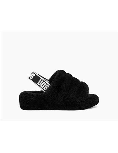 Fluff yeah logo sandals - negro