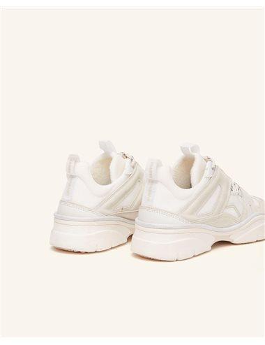 KINDSAY-Sneaker cordones-tiza