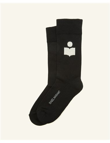 SILOKI-Calcetín logo-negro