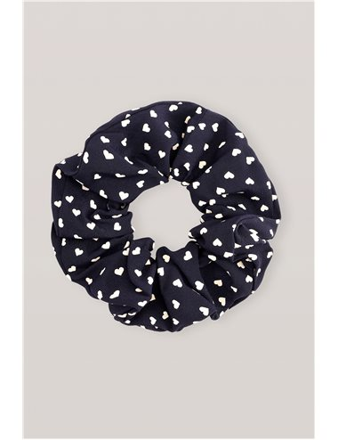 Printed scrunchie - navy blue