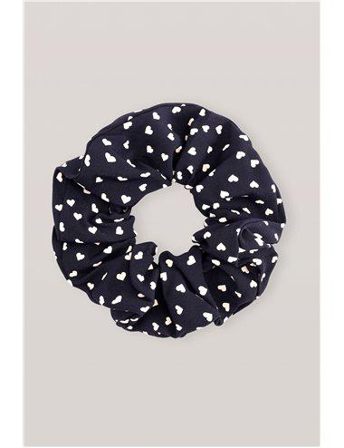 Printed scrunchie - navy blue