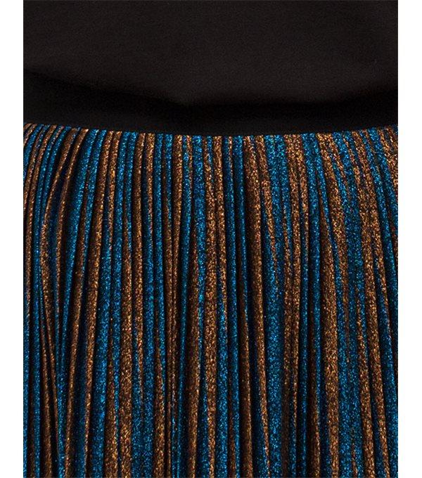 Falda plisada lúrex