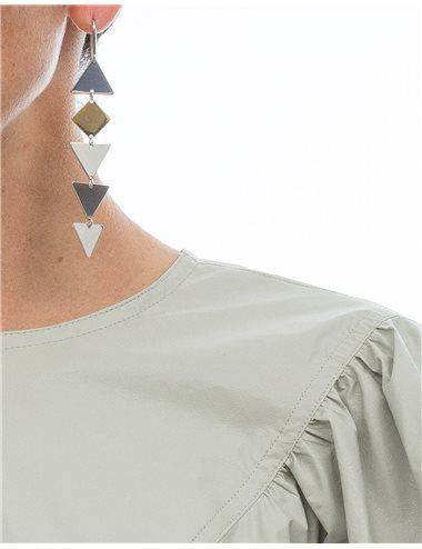 Pendientes largos triángulos